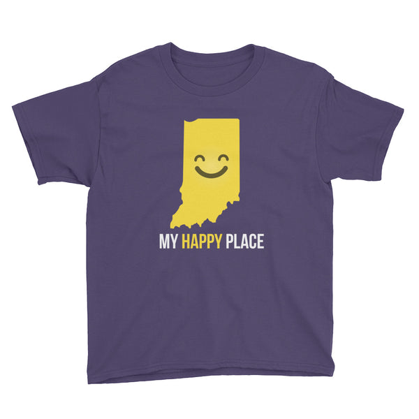 IN Is My Happy Place Kids Tee - OnlyInYourState Apparel