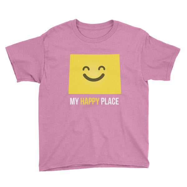 CO Is My Happy Place Kids Tee - OnlyInYourState Apparel