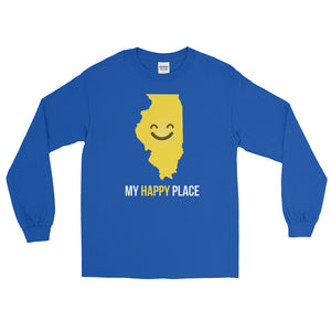 IL Is My Happy Place Long Sleeve - OnlyInYourState Apparel