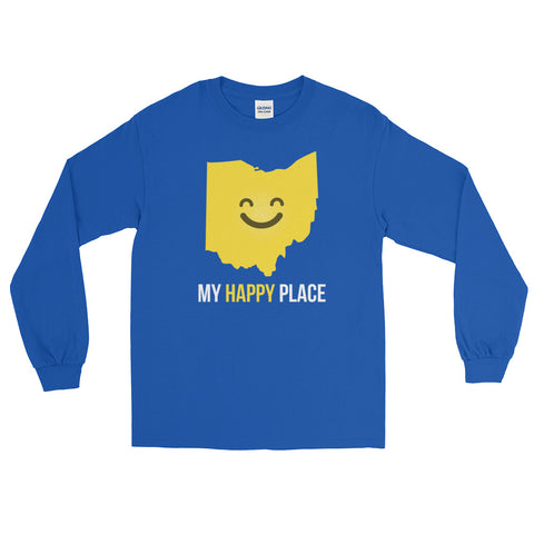 OH Is My Happy Place Long Sleeve - OnlyInYourState Apparel