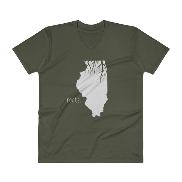 Illinois Roots V-Neck T-Shirt - OnlyInYourState Apparel