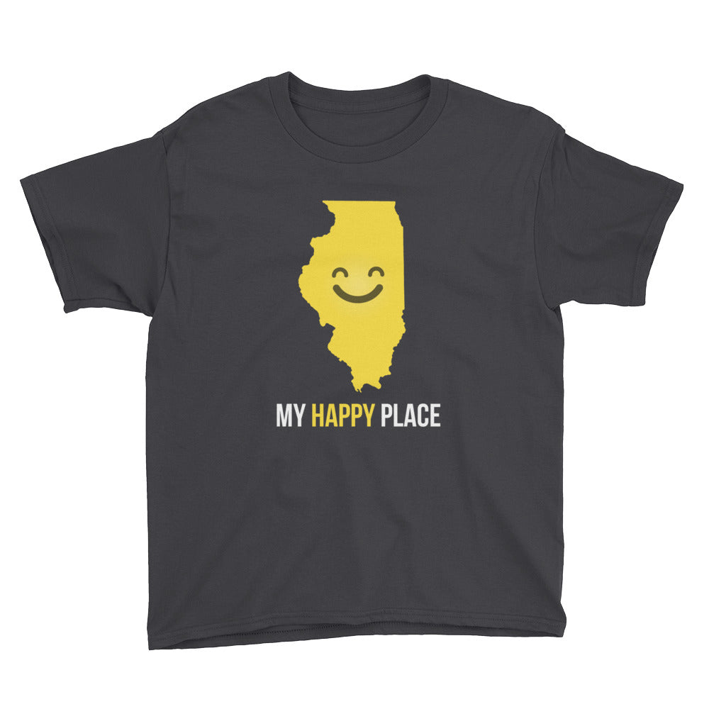 IL Is My Happy Place Kids Tee - OnlyInYourState Apparel