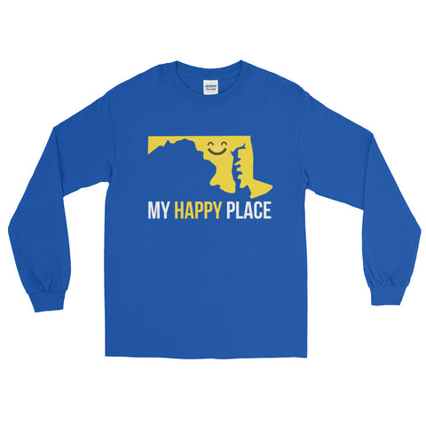 MD Is My Happy Place Long Sleeve - OnlyInYourState Apparel