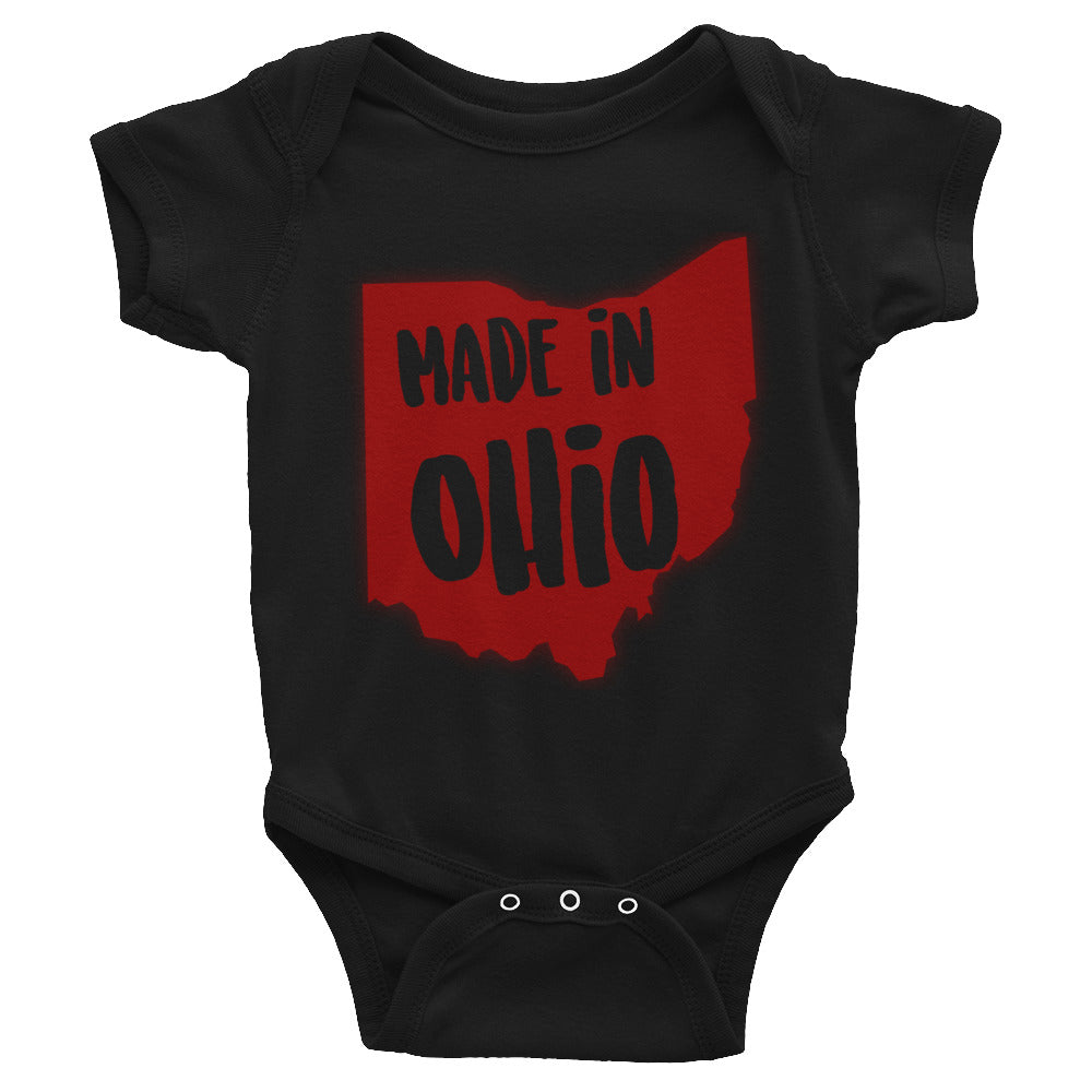 Made In Ohio Onesie - OnlyInYourState Apparel