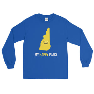NH Is My Happy Place Long Sleeve - OnlyInYourState Apparel