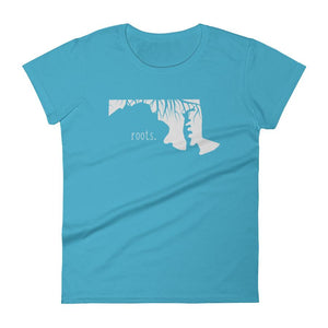 SALE! Caribbean Blue Maryland Roots Ladies Tee, Medium - OnlyInYourState Apparel