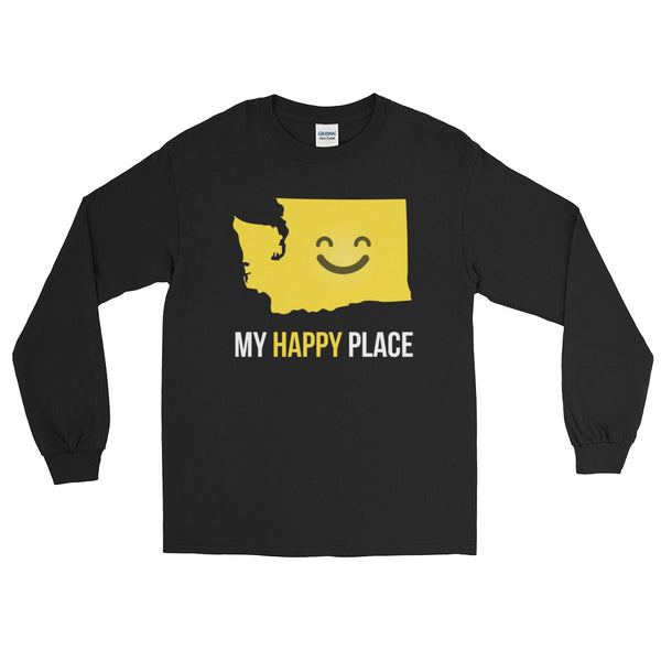 WA Is My Happy Place Long Sleeve - OnlyInYourState Apparel