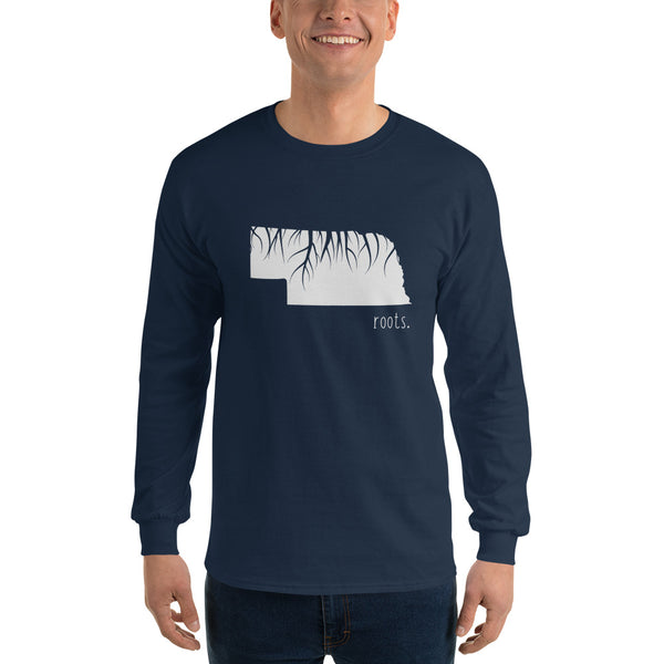 Nebraska Roots Long Sleeve T-Shirt - OnlyInYourState Apparel