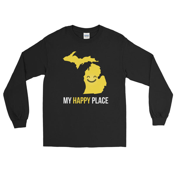 MI Is My Happy Place Long Sleeve