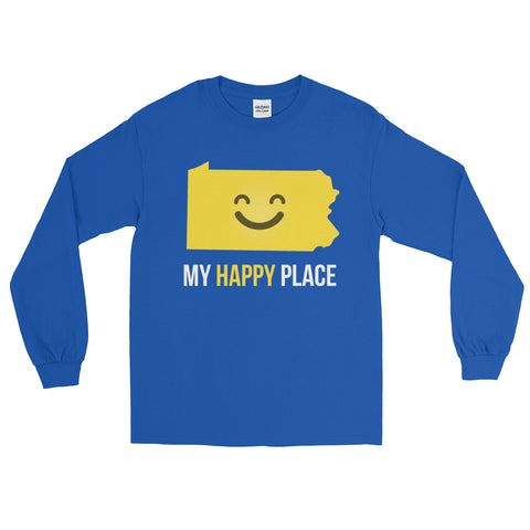 PA Is My Happy Place Long Sleeve - OnlyInYourState Apparel