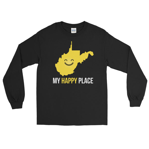 WV Is My Happy Place Long Sleeve - OnlyInYourState Apparel
