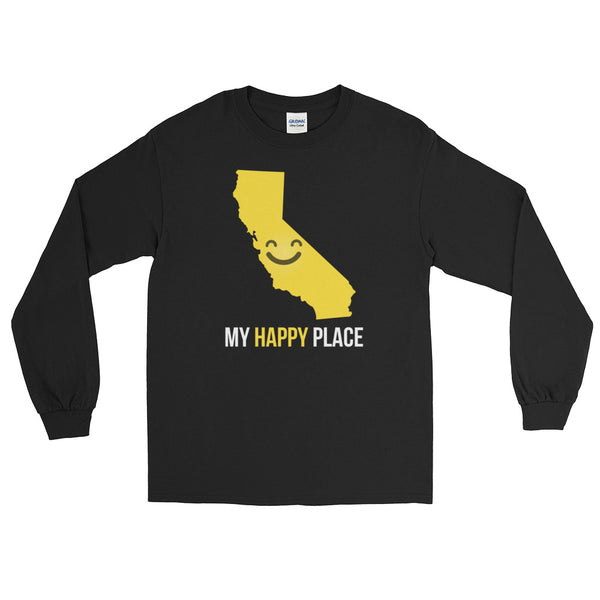 CA Is My Happy Place Long Sleeve - OnlyInYourState Apparel