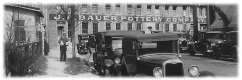 Bauer Pottery's rich history of their factory