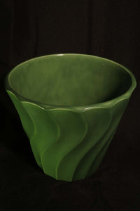 "8"" DARK GREEN SWIRL POT"