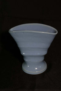 "6"" DELPH RIBBED FAN VASE"