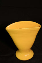 "6"" YELLOW SMOOTH FAN VASE"