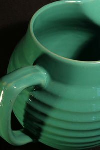 3 QT JADE GREEN BALL PITCHER