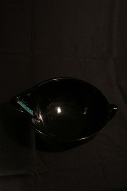 LARGE BLACK BATTER BOWL (Repaired Handle)