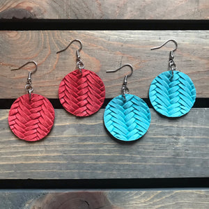 Great Things Genuine Leather Earrings