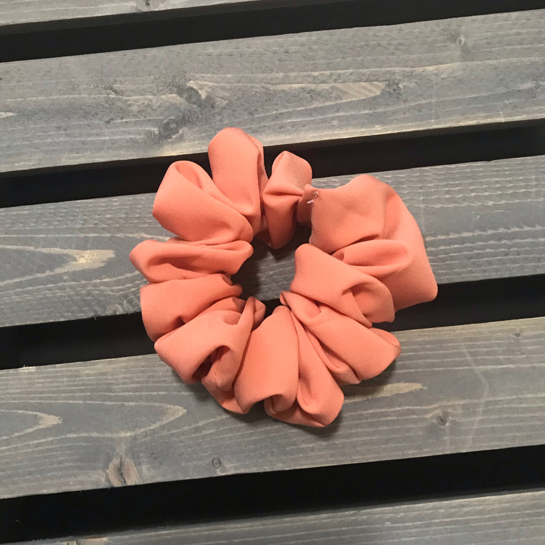 Coral Simple Scrunchie