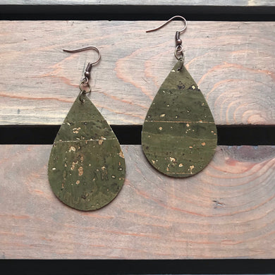 Luck of the Irish Cork Earrings