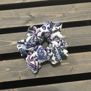 Purple Paisley Simple Scrunchie
