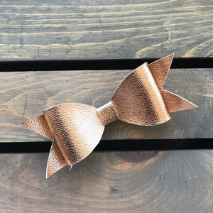 Rose Gold Bow Tie