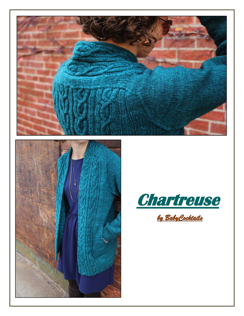 CHARTREUSE CARDIGAN :: Baby Cocktails