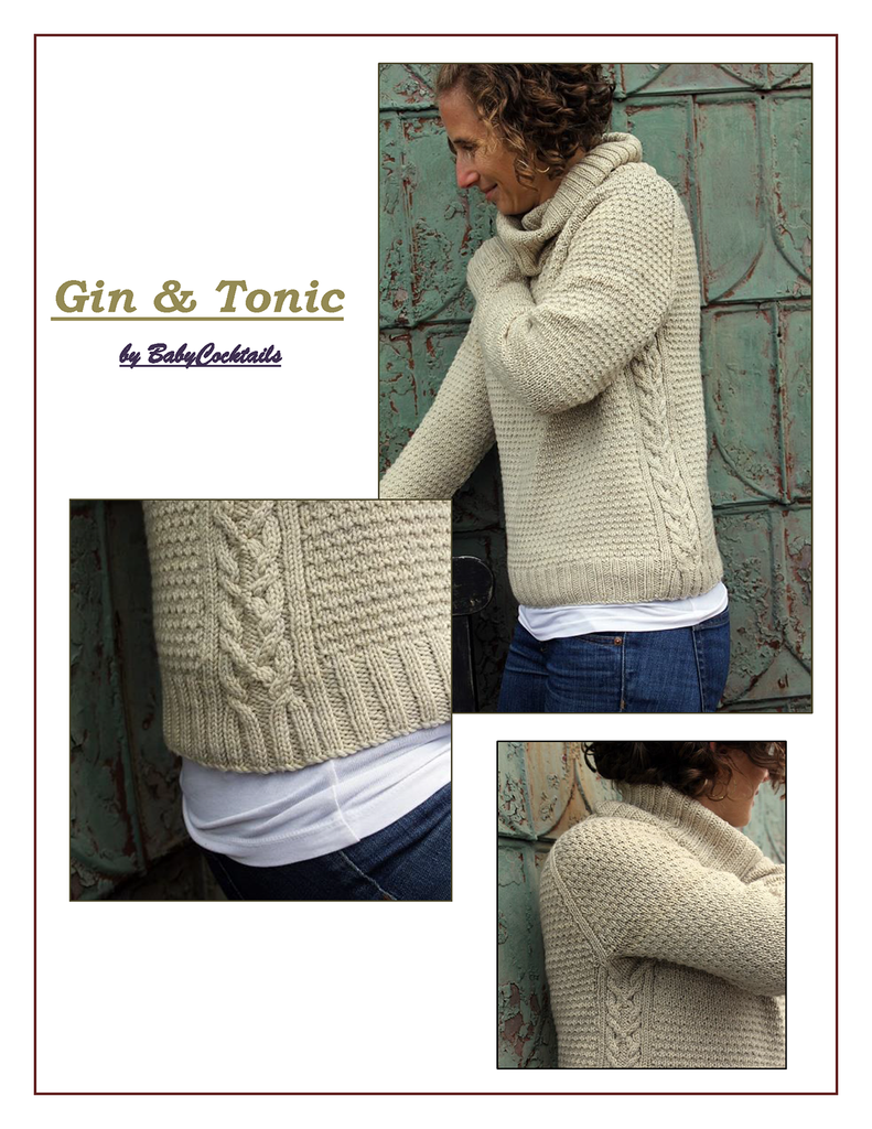 GIN AND TONIC SWEATER :: Baby Cocktails