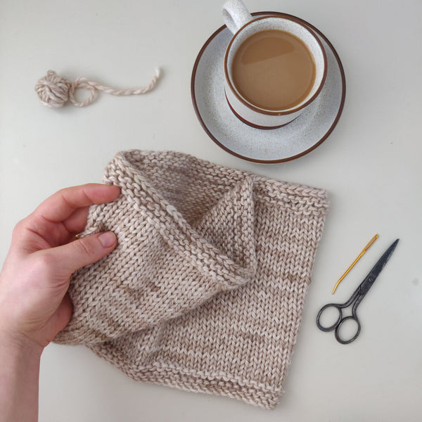 LUXURY TOASTY COWL LEARN TO KNIT KIT