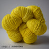 ginger's hand dyed sheepish sock yarn wool british bluefaced leicester and nylon 4ply fingering weight high twist sturdy and soft machine washable indie dyed liquid sunshine bright yellow