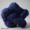 gingers hand dyed leading lady lace mohair silk hand dyed styled shot lace weight indie dyed yarn blue lady dark navy blue tea inspired