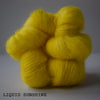 gingers hand dyed leading lady lace mohair silk hand dyed styled shot lace weight indie dyed yarn yellow liquid sunshine bright