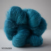 gingers hand dyed leading lady lace mohair silk hand dyed styled shot lace weight indie dyed yarn brigh blue voyager