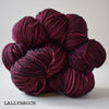 gingers hand dyed pep in your step worsted indie dyed superwash merino wool machine washable plump bouncy yarn indie dyed ginger twist studio lallybroch outlander inspired burgundy purple