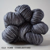 gingers hand dyed pep in your step worsted indie dyed superwash merino wool machine washable plump bouncy yarn indie dyed ginger twist studio old town cobblestone dark grey charcoal edinburgh inspired