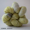 gingers hand dyed pep in your step worsted indie dyed superwash merino wool machine washable plump bouncy yarn indie dyed ginger twist studio summer breeze soft green