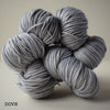 ginger's hand dyed pin-up sport 5ply merino wool and nylon machine washable indie dyed soft drapey smooth high twist sock yarn sport weight light grey gray dove