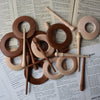 HANDMADE WOODEN SHAWL PINS
