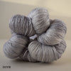 gingers hand dyed splendid lace british bluefaced leicester and silk 2ply lace weight soft smooth indie dyed wool yarn light dove grey gray
