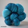 gingers hand dyed splendid lace british bluefaced leicester and silk 2ply lace weight soft smooth indie dyed wool yarn voyager outlander inspired blue aqua