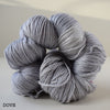 ginger's hand dyed splendor 4ply merino wool and silk soft smooth indie dyed yarn dove light grey gray