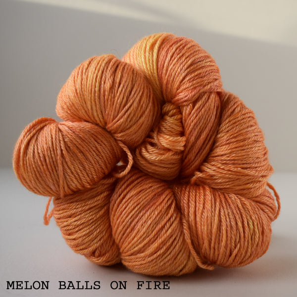 hand dyed merino silk 4ply fingering weight bright orange indie edinburgh scotland