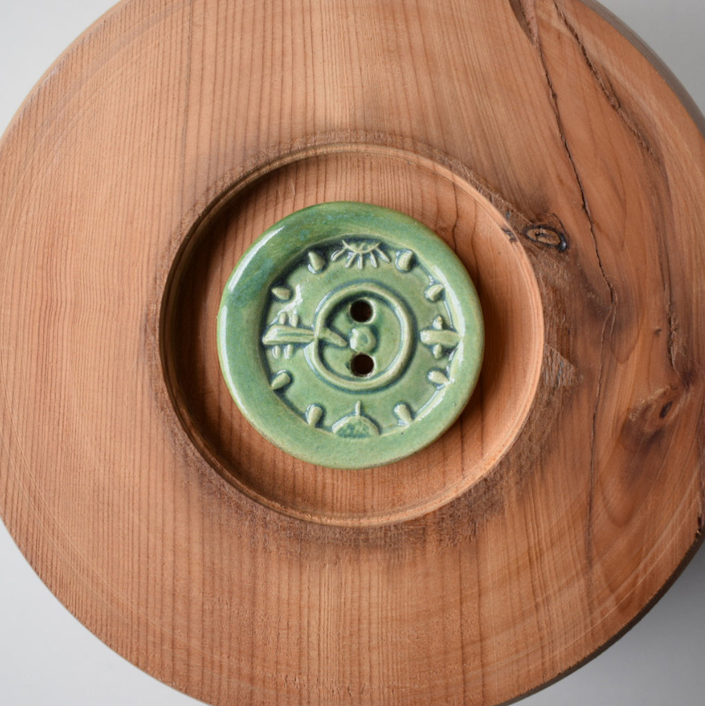 CERAMIC TRIBAL COMPASS BUTTONS
