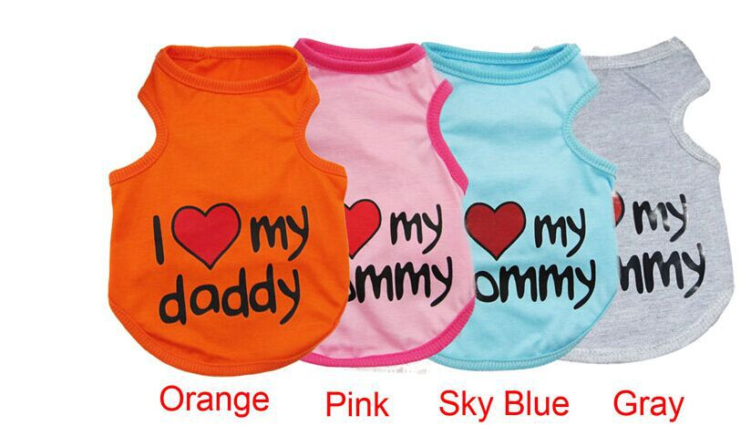 Love Mommy Daddy - Dog Vest