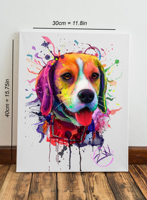Draw Your pet In Splashy Digital Watercolor