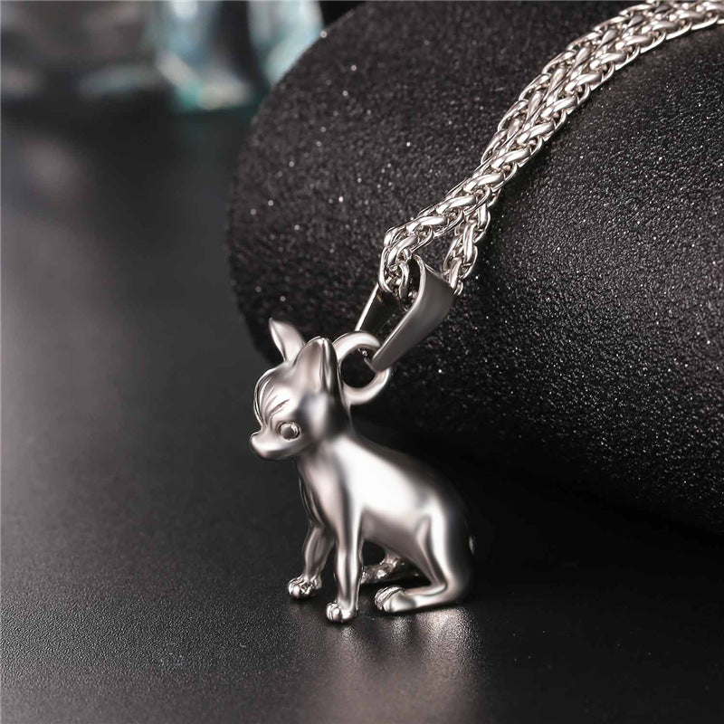 Chihuahua Necklace Collier Stainless Steel/Gold Color  Women/Men Collar Jewelry