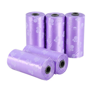 10 Rolls=150pcs Degradable Dog Waste Poop Bag + FREE Bone Dispenser