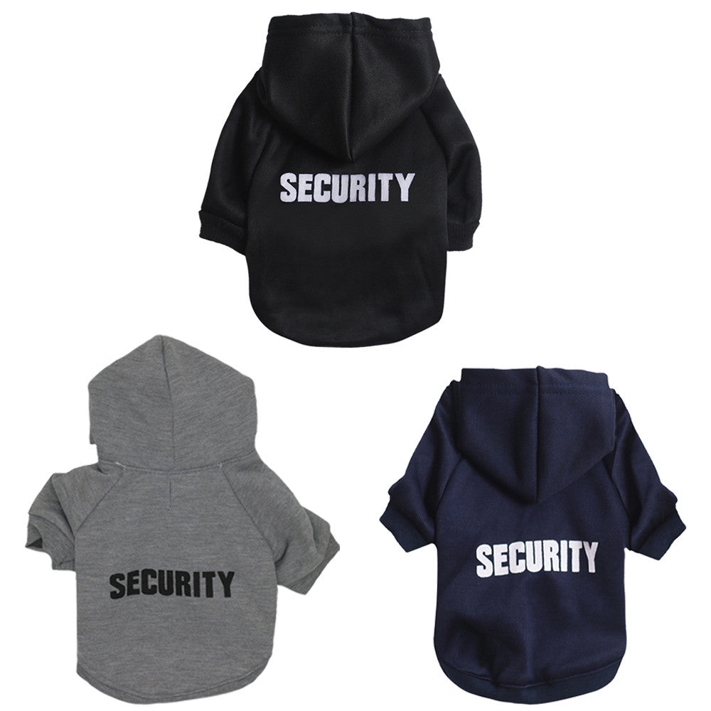 Security dog Hoodie Cotton