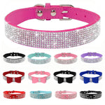 Adjustable Rhinestone Dog Collars